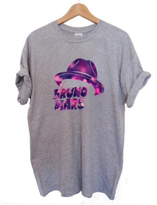 Bruno Mars Hat T Shirt Size S,M,L,XL,2XL,3XL