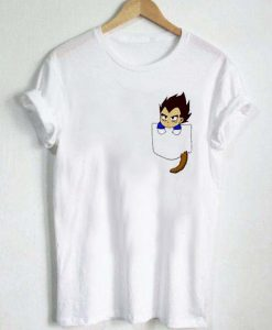 Chibi Vegeta pocket T Shirt Size S,M,L,XL,2XL,3XL