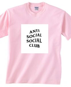 anti social social club light pink T Shirt Size S,M,L,XL,2XL,3XL