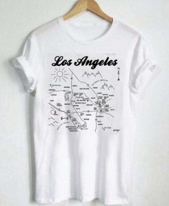 los angeles map T Shirt Size S,M,L,XL,2XL,3XL