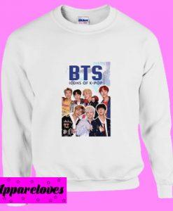 BTS Boy Band Icon K-POP Jin Suga J-Hope RM Jimin V Sweatshirt