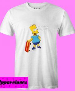 Bart Simpson Skateboard T Shirt