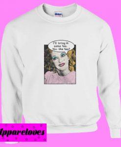 Bette Davis 'Tea Time' Pop Art Sweatshirt
