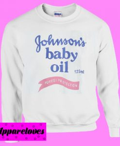 Johnson's Baby Oil Sweatshirt Men And Women