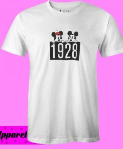 1928 Mickey and Minnie Mouse fashionable T Shirt