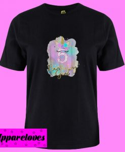 5th unicorn birthday girl five years old party gift T shirt