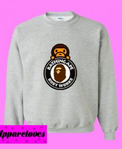 A Bathing Ape Milo On Busy Works Sweatshirt