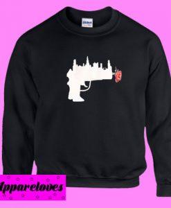 Abstrack Gun Rose Sweatshirt