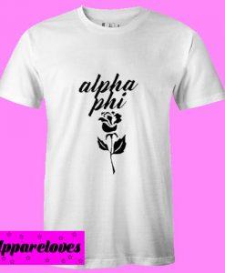 Alpha Phi rose T Shirt