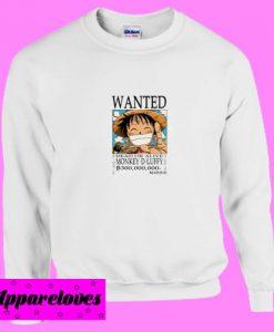 Anime One Piece Wanted Luffy Sweatshirt