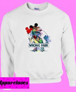 Autism Disney Mickey Saurus wrong park Sweatshirt