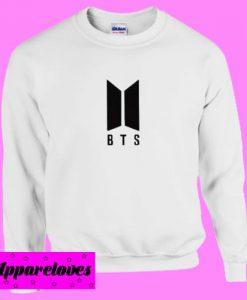 BTS Logo White Sweatshirt