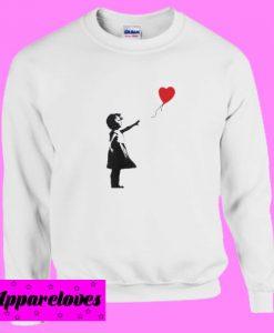 Banksy – Girl with Balloon Sweatshirt