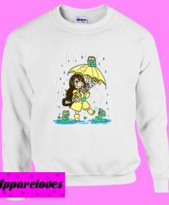 Best Frog Girl Fitted Sweatshirt