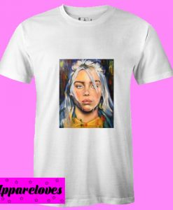Billie Eilish paint art T Shirt