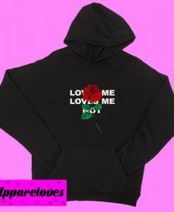 Black Loves Me Loves Me Not Hoodie pullover