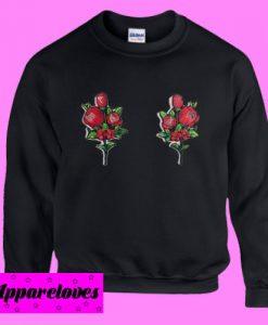 Boobs Flowers Printed Sweatshirt