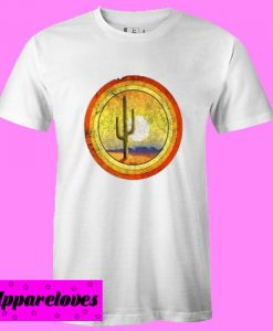 Cactus Desert Sunset T Shirt