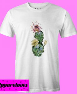 Cactus With Flower T Shirt
