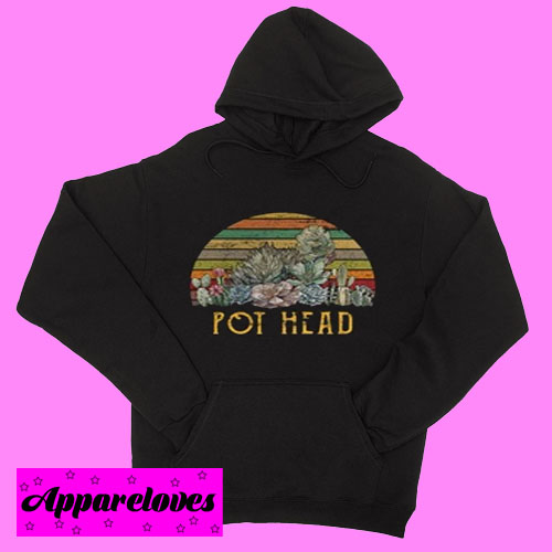 Cactus succulent pot head Hoodie pullover