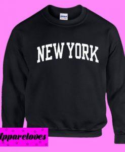 New York Black Sweatshirt Men And Women