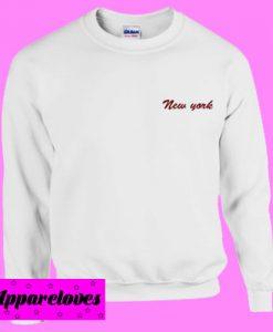 New York Red Text Sweatshirt Men And Women