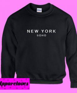 New York Soho Black Sweatshirt Men And Women