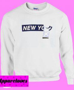 New york typography Sweatshirt Men And Women
