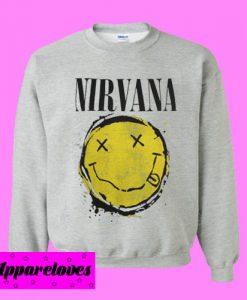 Nirvana Smiley Splat Sweatshirt Men And Women