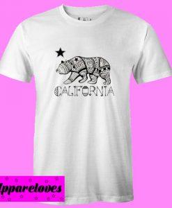 california bear art T Shirt