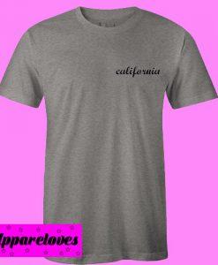 california pocket font T Shirt