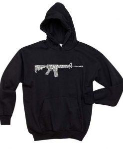 AR 15 2nd Amendment Word Art Hoodie DAP