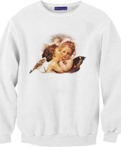 Angel Cheek Kiss Sweatshirts DAP