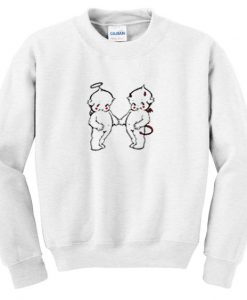 Angel and devil baby sweatshirt DAP