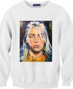 Billie Eilish paint art Sweatshirts DAP