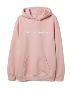 Faith Over Feelings Peach Hoodie AY