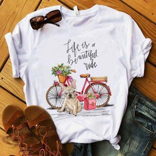 French bulldog Bike T-Shirt DAP