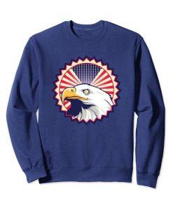 American Eagle USA Flag Sweatshirt DAP