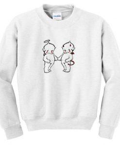Angel and devil baby sweatshirt DAP