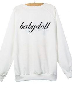 Babydoll White Sweatshirt DAP