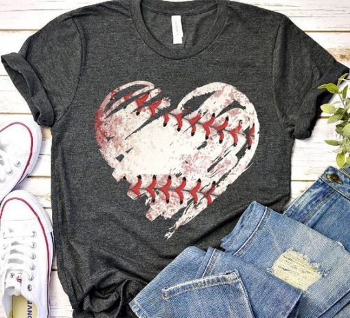 Baseball heart T Shirt ZNF08