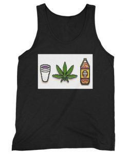 Beer Forty Marijuana Hemp Cannabis Lean Purple Drank 420 Gamer Chronic Man's Tank Top DAP
