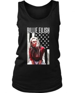 Billie Eilish Usa Flag Art Women's Tank Top DAP