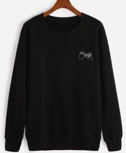 Black Gesture Print Sweatshirt ay