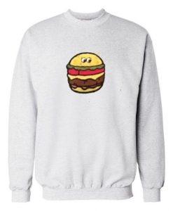 Burger Grey white Sweatshirt DAP