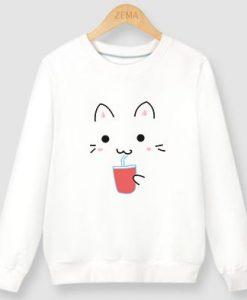 CAT DRINK SWEATSHIRT AY