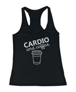 Cardio and coffee Women's Workout Tank Top AY