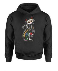 Cat Design Skeleton Hoodie ZNF08
