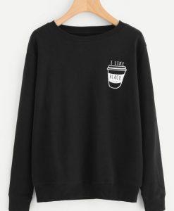 Coffee Print Sweatshirt online AY