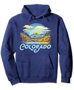 Colorado Maroon Bells Retro Mountains Pullover Hoodie ZNF08